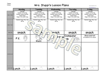 Lesson Plan Excel Template