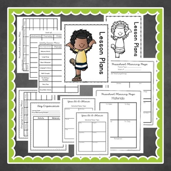 Lesson Plan FORMS & Preschool Planning Pages with Melonheadz friends