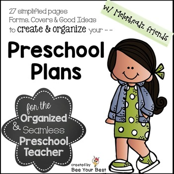 Lesson Plan FORMS & Preschool Planning Pages with Melonhea