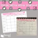 Social Media Planning Calendar for Principals