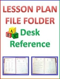 Lesson Plan File Folder - Lesson Planning Desk Reference