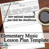 Elementary Music Lesson Plan Fillable Template