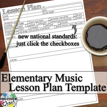 Elementary Music Lesson Plan Fillable Template By Organized Chaos Music