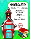 Lesson Plan For The First Week of Kindergarten!