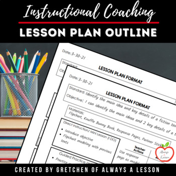 Instructional coaching lesson plan outline by always a lesson tpt instructional coaching lesson plan outline altavistaventures Choice Image