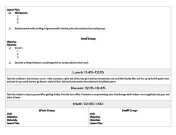 {Editable} Lesson Plan Format FREEBIE