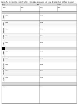 Lesson Plan Formats {{EDITABLE}}
