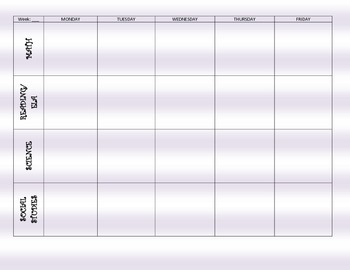 Lesson Plan Grid