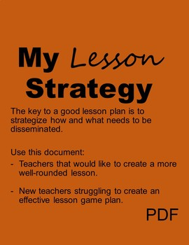 Lesson Plan Guide w/Instructions