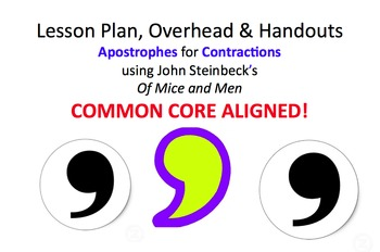Lesson Plan & Handouts: Apostrophe for Contractions in Steinbeck's Of Mice & Men