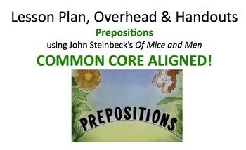 Lesson Plan & Handouts: Prepositions and their Objects in