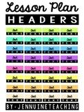 Lesson Plan Header Stickers