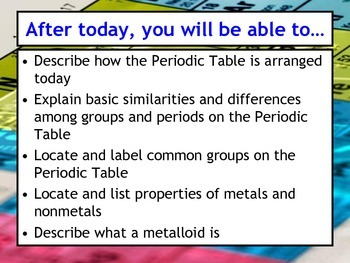 Lesson plan history and basics of the periodic table by msrazz lesson plan history and basics of the periodic table urtaz Images