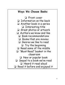 Lesson Plan: How Readers Choose Books