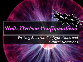 Electron configuration worksheets teaching resources teachers pay lesson plan how to write electron configurations and orbital notations fandeluxe Choice Image