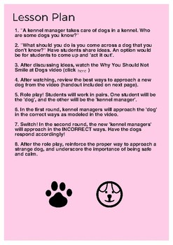 Lesson Plan & Role Play Game: How to safely approach an unfamiliar dog