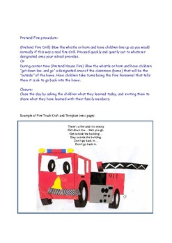 Lesson Plan Ideas Safety PreK Preschool 4 year olds Life Skills