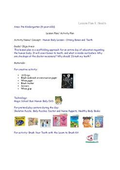 Lesson Plan Ideas for Teaching Health to PreK Preschool 4 year olds