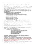 Lesson Plan Intro to Nervous System & Five Senses