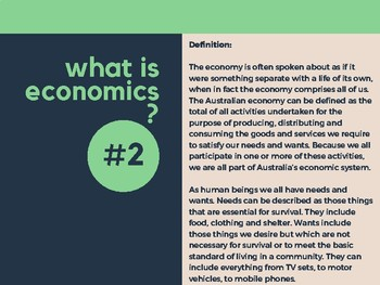 Topic 1 - Introduction to Economics: Lesson Plan & Resources