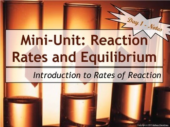 Lesson Plan: Introduction to Reaction Rates