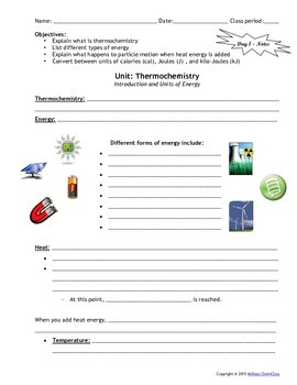 Lesson Plan: Introduction to Thermochemistry by MsRazz ...