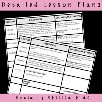 SOCIAL SKILLS Lesson Plans and Activities: Emotional Responses {k-5th Grade}