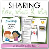 SOCIAL SKILLS Sharing {Lesson Plans and Interactive Activities}