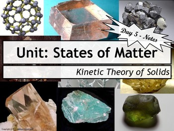 Lesson Plan: Kinetic Molecular Theory of Solids (KMT)