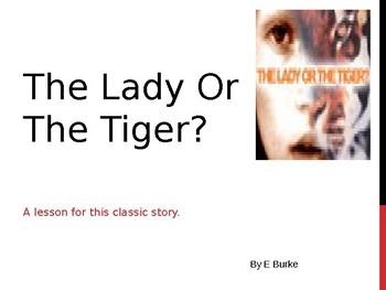 Lesson Plan-Lady or the Tiger