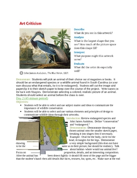 Lesson Plan. Liquid Watercolor Wildlife Artworks with Audubon