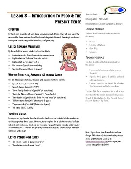 Lesson Plan - Members of a Family & Food