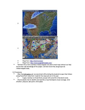 Lesson Plan: Meteorology - Depicting Data On A Map
