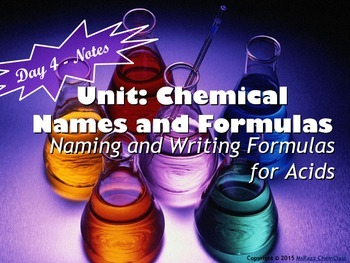 Lesson Plan: Naming and Formula Writing for Acids