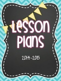 Lesson Plan Notebook for All Subjects