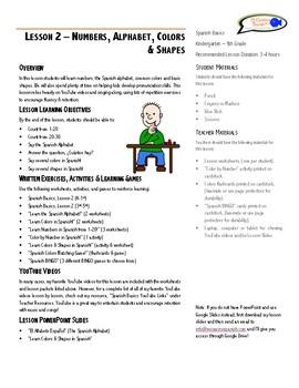 Lesson Plan - Numbers, Alphabet, Colors & Shapes