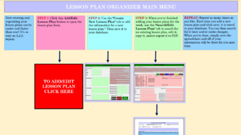 Lesson Plan Organizer Turbo (Create, Store & Print Lesson Plans with Ease!)