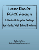 Lesson Plan - PEACE - Dealing with Negative Feelings - Mid