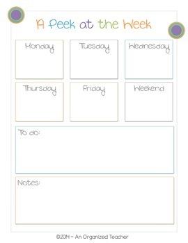 Lesson Plan Pack for the Organized Teacher