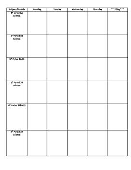 Lesson Plan Pencil-in draft graphic organizer