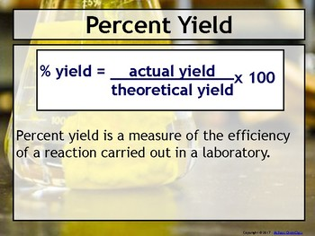 Lesson Plan: Percent Yield