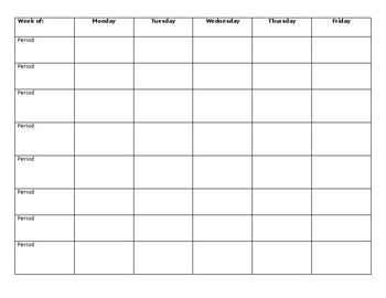 lesson plan plan book template by lauren desanto tpt