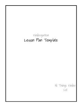 Lesson Plan Planbook Template