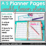 Lesson Plan Planner Pages (A5 Size)