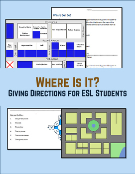 Lesson Plan Practice Giving Directions on a Map