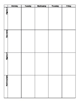 Lesson Plan Printables
