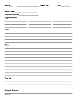 Lesson Plan Project Sheet