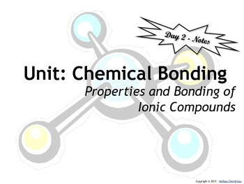 Lesson Plan: Properties and Bonding of Ionic Compounds