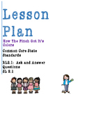 Lesson Plan RL 2.1-Ask and Answer Questions- How The Finch