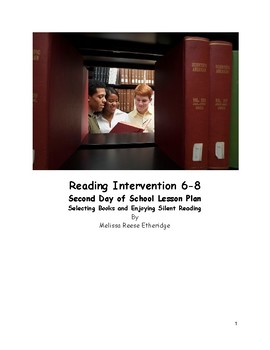 Lesson Plan: Selecting Books and Enjoying Silent Reading
